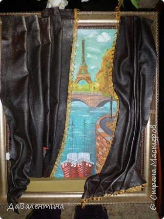 Картина панно рисунок Мастер-класс Праздник осени Ассамбляж Картина из кожи Осенний Париж  Мастер-класс Кожа фото 56