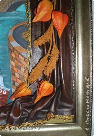 Картина панно рисунок Мастер-класс Праздник осени Ассамбляж Картина из кожи Осенний Париж  Мастер-класс Кожа фото 8