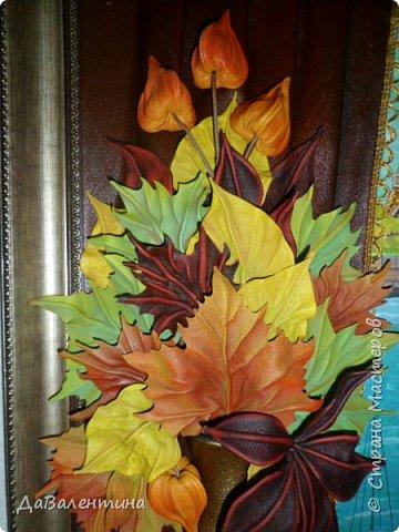 Картина панно рисунок Мастер-класс Праздник осени Ассамбляж Картина из кожи Осенний Париж  Мастер-класс Кожа фото 6