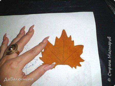 Картина панно рисунок Мастер-класс Праздник осени Ассамбляж Картина из кожи Осенний Париж  Мастер-класс Кожа фото 32