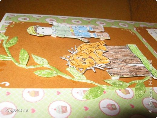 Всем доброго времени суток, дорогие друзья и мастера! Сегодня я с открыточками. Эту открыточку сделала в подарок Любаше(Любасик) , когда она была в Москве, хотелось что-то задорное, вот получилась такая пуговичная улыбашка. фото 8