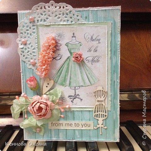 Скрапбукинг открытка для модница, днем пожилых