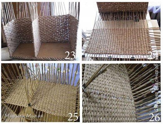 Мастер-класс Поделка изделие Плетение Опять большооое и мобильное Маленький МК Трубочки бумажные фото 11
