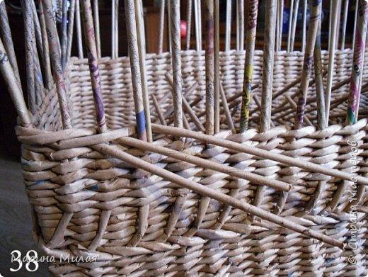 Мастер-класс Поделка изделие Плетение Опять большооое и мобильное Маленький МК Трубочки бумажные фото 16