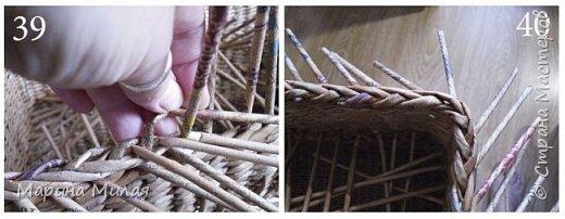 Мастер-класс Поделка изделие Плетение Опять большооое и мобильное Маленький МК Трубочки бумажные фото 17