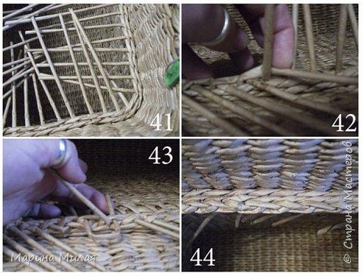 Мастер-класс Поделка изделие Плетение Опять большооое и мобильное Маленький МК Трубочки бумажные фото 18