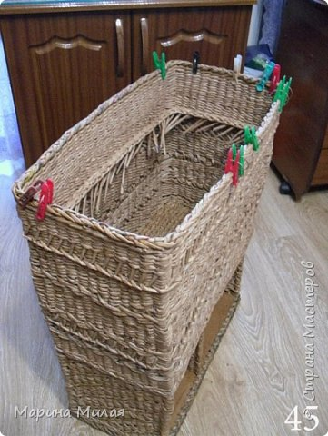 Мастер-класс Поделка изделие Плетение Опять большооое и мобильное Маленький МК Трубочки бумажные фото 19