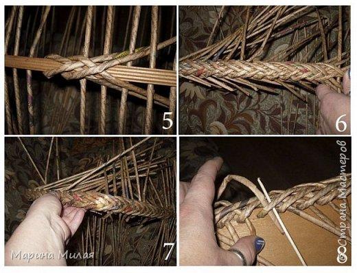 Мастер-класс Поделка изделие Плетение Опять большооое и мобильное Маленький МК Трубочки бумажные фото 3