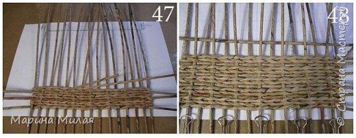 Мастер-класс Поделка изделие Плетение Опять большооое и мобильное Маленький МК Трубочки бумажные фото 21