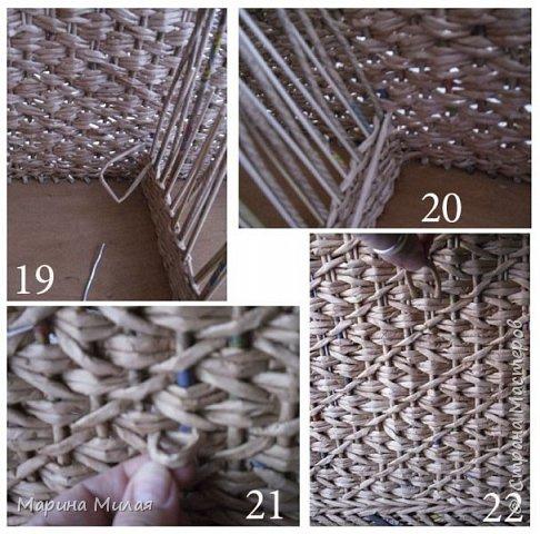 Мастер-класс Поделка изделие Плетение Опять большооое и мобильное Маленький МК Трубочки бумажные фото 10