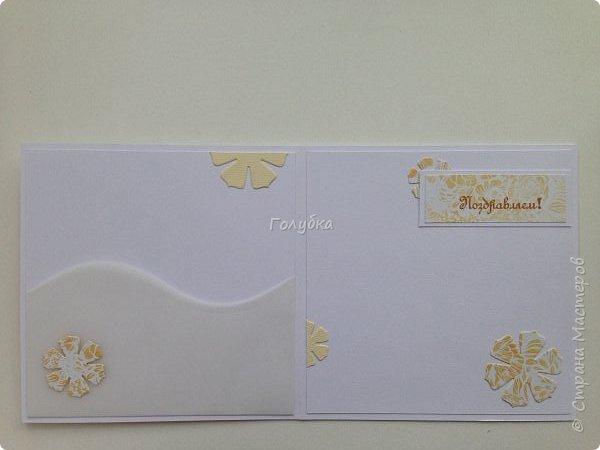Парочка пятничных творений.  Бумага Эпоха невинности Galeria Papieru. Это самый сочный дизайн из шести предложенных набором. Бледноватая коллекция( минус), но симпатичная:) Одно название чего стоит! К свадебным открыткам самое то:) фото 8