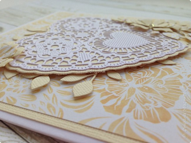 Парочка пятничных творений.  Бумага Эпоха невинности Galeria Papieru. Это самый сочный дизайн из шести предложенных набором. Бледноватая коллекция( минус), но симпатичная:) Одно название чего стоит! К свадебным открыткам самое то:) фото 10