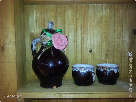Клетка для хранения посуды. Украшена розами из корок апельсина. фото 7
