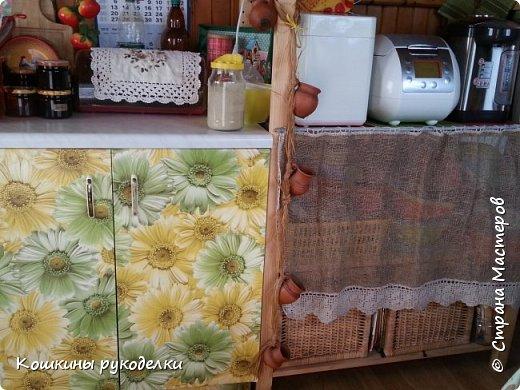 Кухонные шторы из мешковины