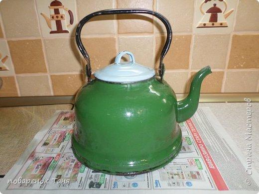 Здравствуйте, дорогие Мастера и мастерицы! Я к вам со своей новой работой - переделкой старого чайника.  фото 2