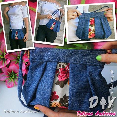 Видео Гардероб Мастер-класс Шитьё DIY сумка из старых джинсов Ткань фото 1