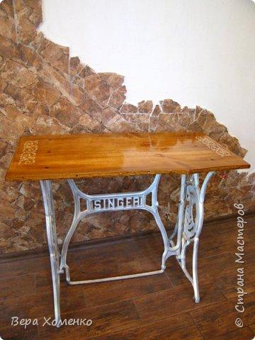 Мечты сбываются! Так выглядит мой новый столик для рукоделия на даче.