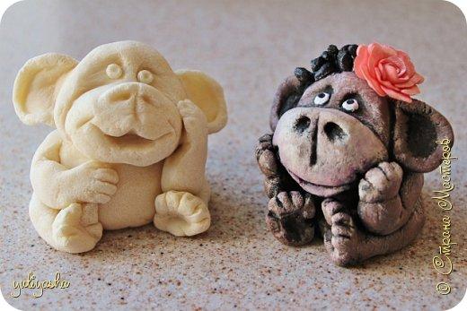 Игрушка Новый год Лепка Весёлые обезьянки  начало  Тесто соленое фото 1