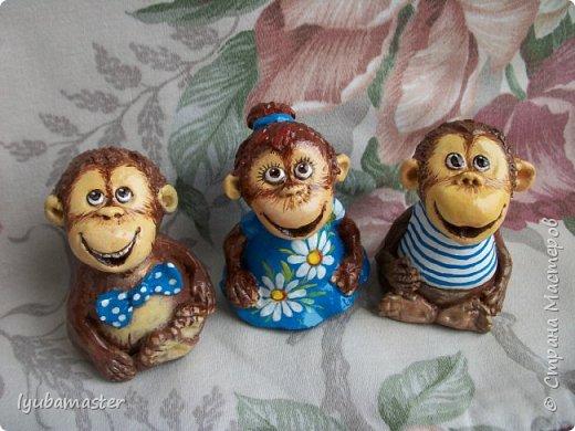 Здравствуйте дорогие мастера! У меня пополнение обезьянок. Краски акриловые. Размер-6-7 см.0 фото 5