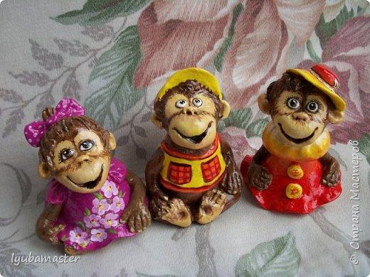 Здравствуйте дорогие мастера! У меня пополнение обезьянок. Краски акриловые. Размер-6-7 см.0 фото 4