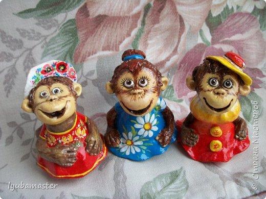 Здравствуйте дорогие мастера! У меня пополнение обезьянок. Краски акриловые. Размер-6-7 см.0 фото 1