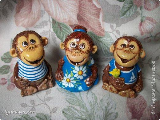 Здравствуйте дорогие мастера! У меня пополнение обезьянок. Краски акриловые. Размер-6-7 см.0 фото 3