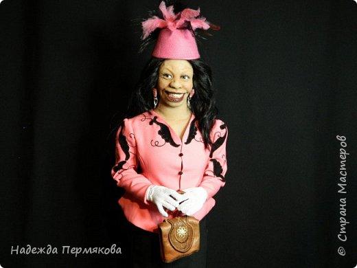 """Текстильная куколка """"Вупи"""" персонаж фильма """"Призрак"""" (очень люблю этот фильм) размер 70 см. Наполнитель синтепон, проволочный каркас, колготочный материал, волосы натуральные. фото 4"""