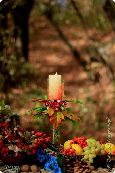 Осенние поделки для домашнего декора и фотосессии. Украшайте свою осень!И не важно какая за окном погода,небольшая ваза сделанная своими руками,или яркие осенние подсвечники наполнят теплом и уютом ваш дом!  Осень не время для грусти! Осень пора для идей! Осень нам дарит подарки, Радуя близких, друзей!  Мне же дает вдохновение… С радостью что то творю! И вам скажу без сомненья- Осень за это люблю!!! Юля   Фотографии Натальи Чередниченко  фото 2