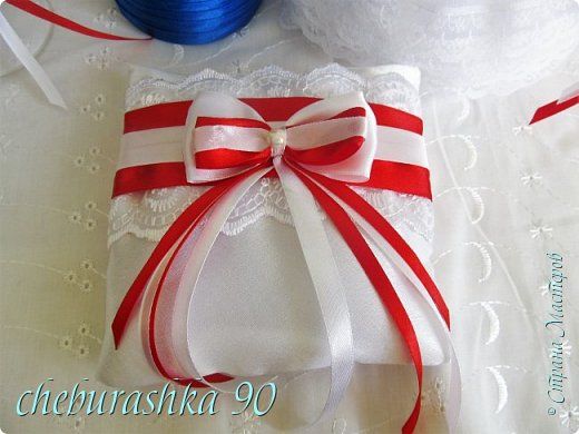 Свадебные аксессуары.Бело- красные. фото 3