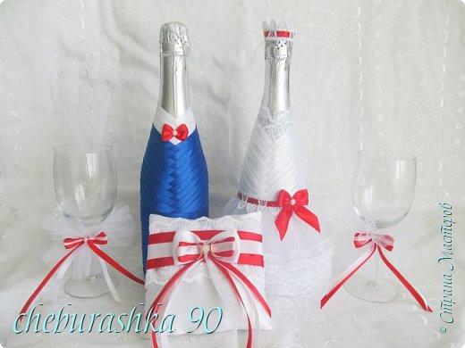 Свадебные аксессуары.Бело- красные. фото 1