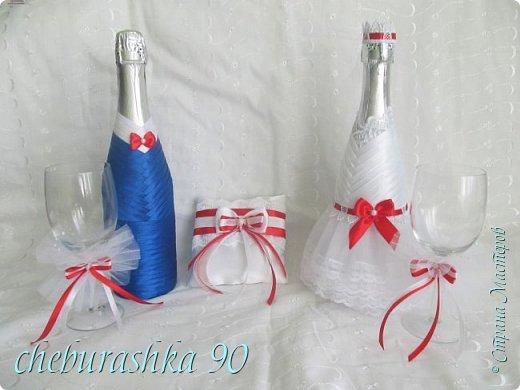 Свадебные аксессуары.Бело- красные. фото 2