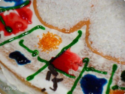 """Такой торт приготовила на технологии ученица 8 класса - Полина! Ромашка - символ семьи, любви и верности! Как хорошая хозяйка, она понимает, что женщина в семье должна хорошо готовить и кормить свою семью! И на день рождение и на любой праздник нужно уметь самой """"сматерить"""" вкусный тортик! фото 4"""