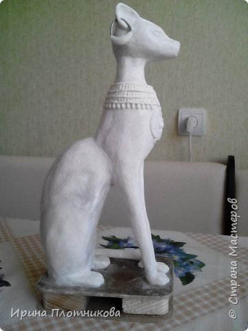 """Здравствуйте, это мой дебют в """"Стране мастеров"""". Очень мне нравились эти египетские кошки, что захотелось сделать одну для себя. Баст или Бастет — в Древнем Египте богиня радости, веселья и любви, женской красоты, плодородия и домашнего очага, которая изображалась в виде кошки или женщины с головой кошки. фото 18"""