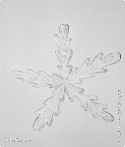 Здравствуйте... Выполняю свое обещание, сделать небольшой мастер - класс снежинки)))) Все очень и очень просто)))  фото 4