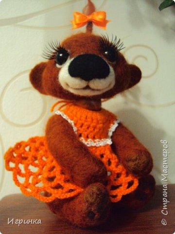 Здравствуйте друзья! Представляю Вам своих новых друзей - мишутку Ксюшеньку и обезьянку (с именем пока не определилась).  фото 3