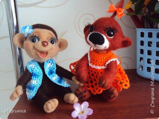 Здравствуйте друзья! Представляю Вам своих новых друзей - мишутку Ксюшеньку и обезьянку (с именем пока не определилась).  фото 1