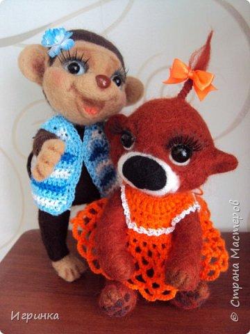 Здравствуйте друзья! Представляю Вам своих новых друзей - мишутку Ксюшеньку и обезьянку (с именем пока не определилась).  фото 8