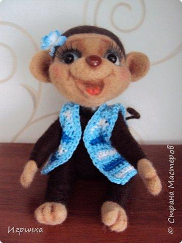 Здравствуйте друзья! Представляю Вам своих новых друзей - мишутку Ксюшеньку и обезьянку (с именем пока не определилась).  фото 5