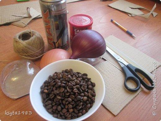 Мастер-класс Поделка изделие Моделирование конструирование МК кофейного ежика Кофе Шпагат фото 2