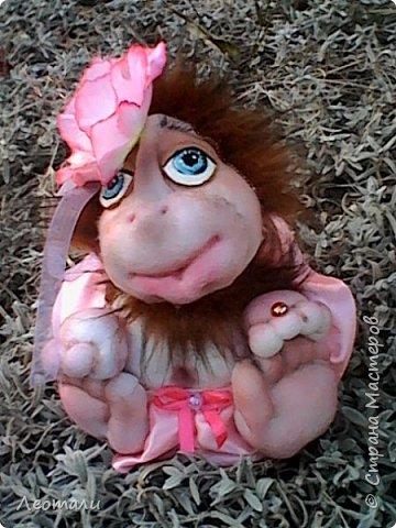 Привет всем жителям СМ! Я как и все приготовила тоже обезьянок. Вот они какие получились. Женщин часто сравнивают с обезьянами. И ласковые прозвища дают. Поэтому у меня первая РОЗОЧКА. фото 2