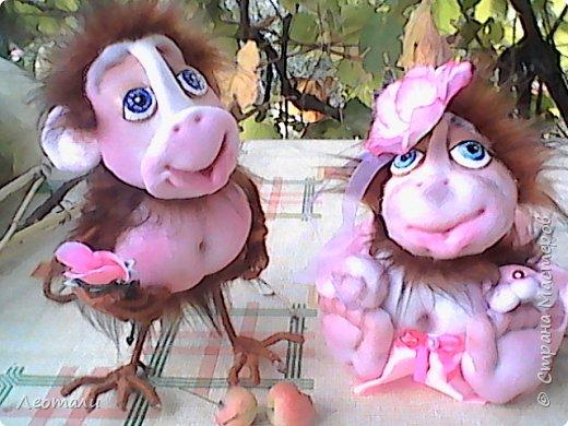 Привет всем жителям СМ! Я как и все приготовила тоже обезьянок. Вот они какие получились. Женщин часто сравнивают с обезьянами. И ласковые прозвища дают. Поэтому у меня первая РОЗОЧКА. фото 11