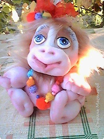 Привет всем жителям СМ! Я как и все приготовила тоже обезьянок. Вот они какие получились. Женщин часто сравнивают с обезьянами. И ласковые прозвища дают. Поэтому у меня первая РОЗОЧКА. фото 3