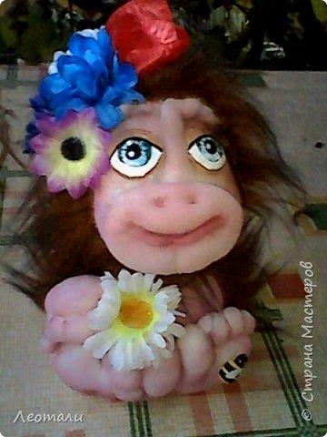 Привет всем жителям СМ! Я как и все приготовила тоже обезьянок. Вот они какие получились. Женщин часто сравнивают с обезьянами. И ласковые прозвища дают. Поэтому у меня первая РОЗОЧКА. фото 9