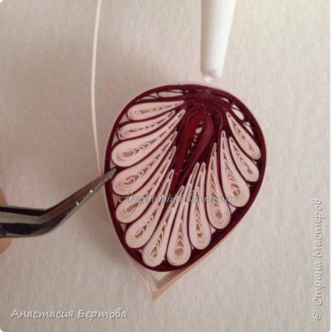 Картина панно рисунок Мастер-класс Квиллинг Фантазийный цветок Бумажные полосы Клей фото 14