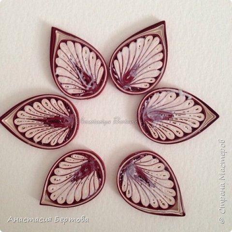 Картина панно рисунок Мастер-класс Квиллинг Фантазийный цветок Бумажные полосы Клей фото 17
