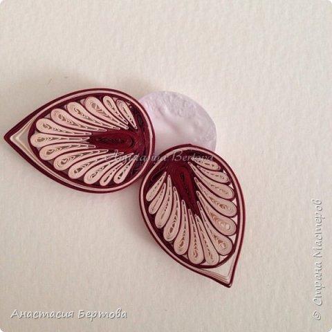 Картина панно рисунок Мастер-класс Квиллинг Фантазийный цветок Бумажные полосы Клей фото 21