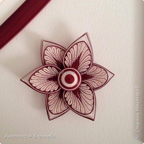 Картина панно рисунок Мастер-класс Квиллинг Фантазийный цветок Бумажные полосы Клей фото 24