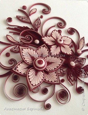 Картина панно рисунок Мастер-класс Квиллинг Фантазийный цветок Бумажные полосы Клей фото 26