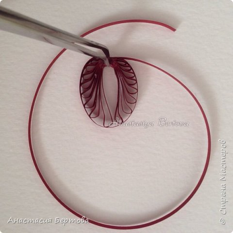 Картина панно рисунок Мастер-класс Квиллинг Фантазийный цветок Бумажные полосы Клей фото 5
