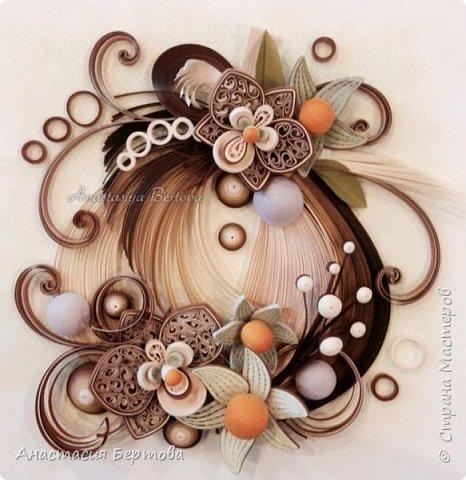 Картина панно рисунок Мастер-класс Квиллинг Фантазийный цветок Бумажные полосы Клей фото 32